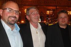Die siegreichen Drei: Frank Becker (2), Harald Gräf sen. (1) und Erik Kirschner (3)