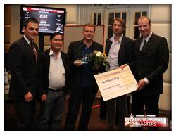 Die besten Drei: 1. Platz: Christian Stratmeyer (Mitte), 2. Platz: Van Bum Nguyen (2. v. links), 3. Platz: Ranko Ilic (2. v. rechts)