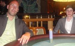 Der drittplatzierte Stefan Sauer mit dem Nachwuchsstar Alexander Vetter
